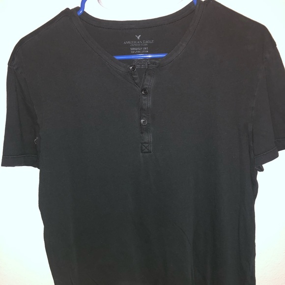 American Eagle Outfitters Other - Black mid button down t shirt